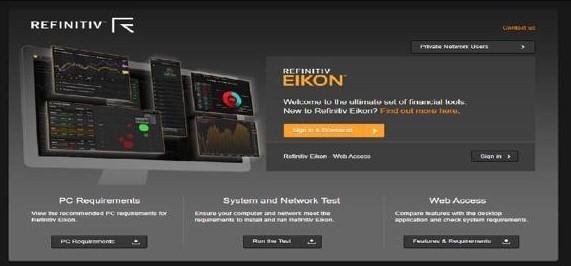 منصة Refinitiv Eikon في كلية إدارة الأعمال