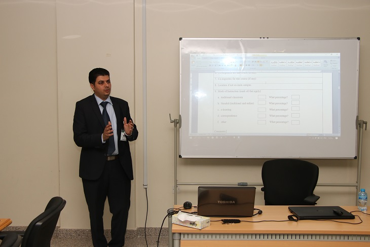 Quality Culture Unit organizes workshops for the faculty members