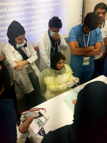Dar Al Uloom Dentistry Holds An Aesthetic Suturing Techniques Workshop